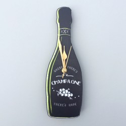 Champagne Wall Clock
