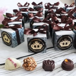 Personalised Organic Chocolate Favour Boxes
