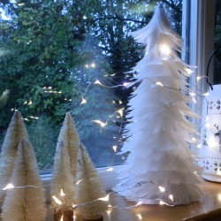 White Feather Tree Table Decorations