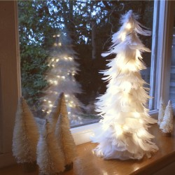 White Tree & Lights Table Decorations