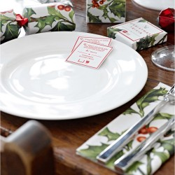 christmas napkins holly design