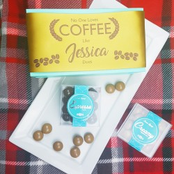 Personalised 'No One Loves Coffee Like..' Gluten Free Chocolate Coffee Box