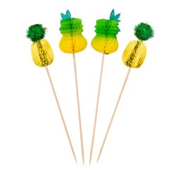 Pineapple Party Food Picks (Two Packs of 12)