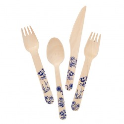 wooden party tableware
