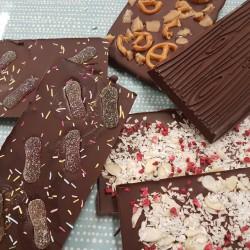 Handmade Gourmet Vegan Chocolate Bark Selection (3 bars)