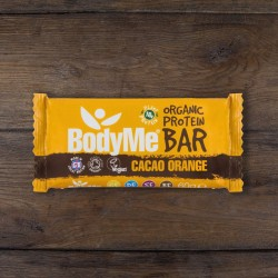 Organic Raw Cacao Orange Vegan Protein Bars with 3 Plant Proteins