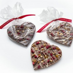 2 Fruit and Nut Chocolate Hearts