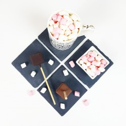 Set of 3 Luxury Hot Chocolate Sticks And Mini Marshmallows