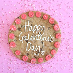Personalised Valentine's Giant Chocolate Chip Cookie Card