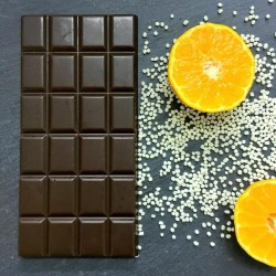 3 Handmade Dairy Free Milk Chocolate Bars with Orange Crunch