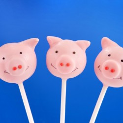 Piggy Cake Pops (Set of 10)