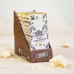 Lucuma Raw Cacao Chocolate Bar Box - Organic, Fairtrade