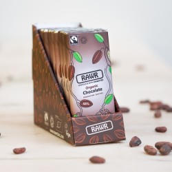 Raw 68% Cacao Chocolate Bar Box - Organic, Fairtrade