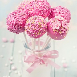 Pink Cake Pops (Set of 9)