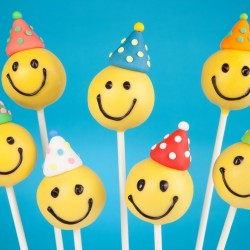 Emoji Cake Pops with Hats (Set of 9)