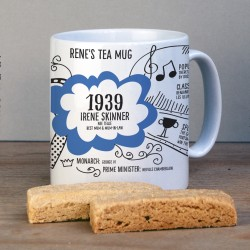 Personalised 80th Birthday 1939 Mug Gift