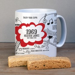 Personalised 50th Birthday 1969 Mug Gift