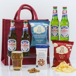 Gluten-Free Beer & Snacks with Buddies Gift Bag from Natures Hampers