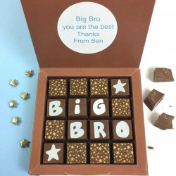 Personalised Message Chocolates for Big Bro