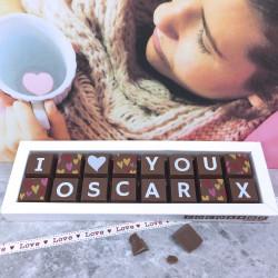 Personalised I Love You Box of Chocolates