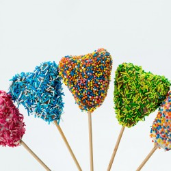 Valentine's Heart Shaped Cake Pops (Set of 8)