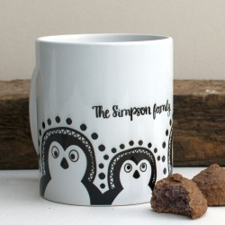 Cute Penguin Coffee Mug (with personalisation)