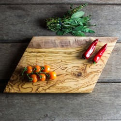 Geometric Olive Wood Chopping/Cheese Board
