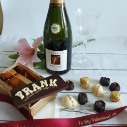 Personalised Luxury Organic Chocolate Name Card, Assorted Box & Champagne Gift Box (Soya & Gluten Free)
