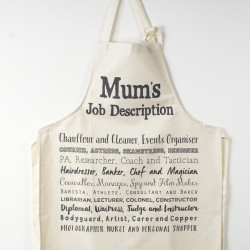 Cook's Apron - Just for Mum with a Witty Poem