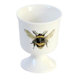 2 Egg Cups - Bee - Fine Bone China - Made in England