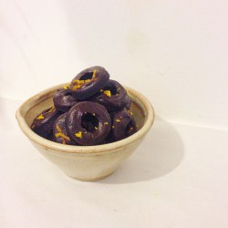 Vegan, Gluten-free Mini Chocolate Orange Doughnuts - Box of 20