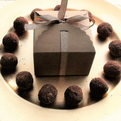 Raw Chocolate Rum and Hazelnut coated Truffles