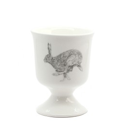 2 Egg Cups - Hare - Fine Bone China - Made in England