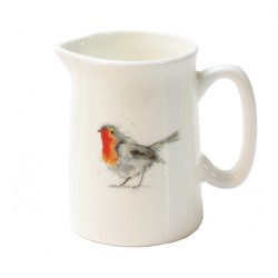 Robin Mini Jug - Christmas Gift - Stocking Filler - Fine Bone China