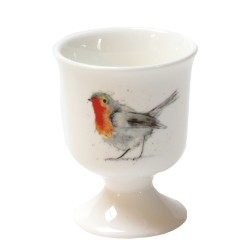 2 Egg Cups - Robin - Fine Bone China - Made in England