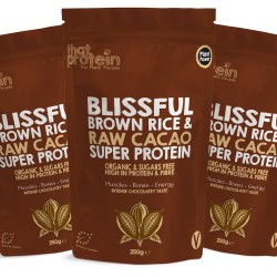 Blissful Brown Rice and Raw Cacao Super Protein Powder - Triple Pack