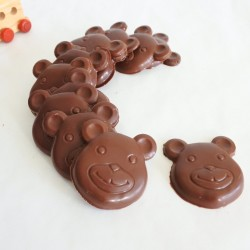 Vegan Chocolate Teddy Bears- Large (Gluten & Soya Free)