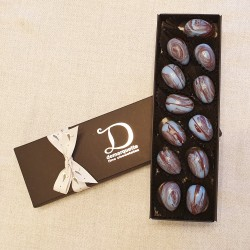 12 Dark Chocolate Sea Salt Caramel Mini Eggs