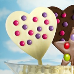Two Milk and White Chocolate Heart Lollipops