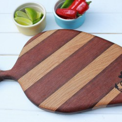 Reclaimed Hardwood Chopping Board / Serving Board (Oak & Sapele)