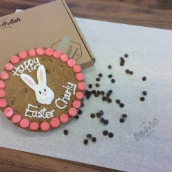 Personalised Easter Bunny Giant Chocolate Chip Cookie Card