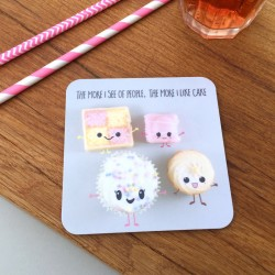 Cute Cakes & Biscuits Pair of Coasters