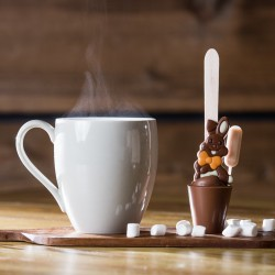 Set of 3 Boozy Bunny Hot Chocolate Stirrers