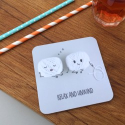 Relax Unwind & Old Bean Pair of Coasters