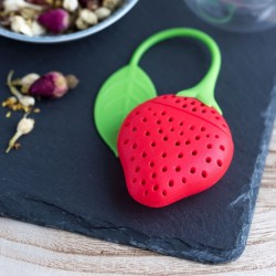 Silicone Strawberry Tea Strainer Set of 2