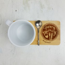 Personalised Yummy Mummy Mug Coaster