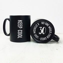 Keep Cool Hidden Message Birthday Carved Mug