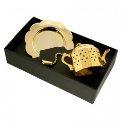 David Louis Tea Infuser In Gilt