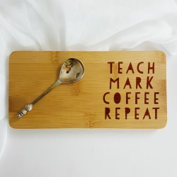 Personalised Teach Mark Coffee Repeat Gift Coaster