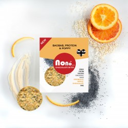 Nono Cocoa Chocolate Snacks - Baobab & Poppy Seeds - Prebiotic & Protein (Multipack)